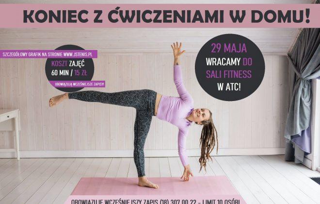 29 maja wracamy do sali fitness, Akademia Tenisa Chełmiec - Janusz Stanek, tenis ziemny, korty tenisowe, tenis Nowy Sącz