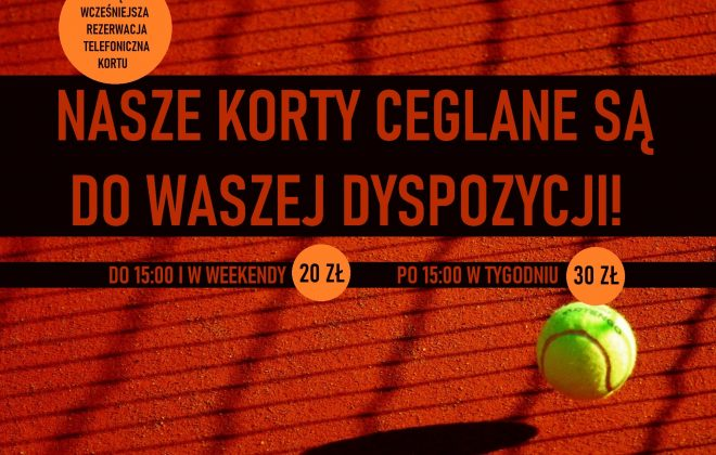CEGLANE KORTY DO DYSPOZYCJI, Akademia Tenisa Chełmiec - Janusz Stanek, tenis ziemny, korty tenisowe, tenis Nowy Sącz
