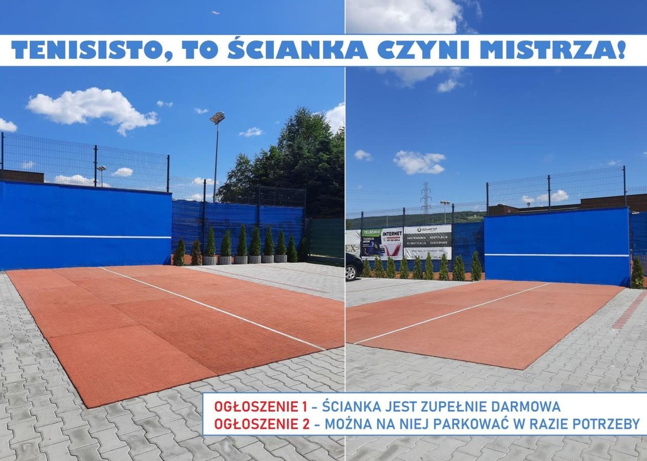 ŚCIANKA w jstenis, Akademia Tenisa Chełmiec - Janusz Stanek, tenis ziemny, korty tenisowe, tenis Nowy Sącz