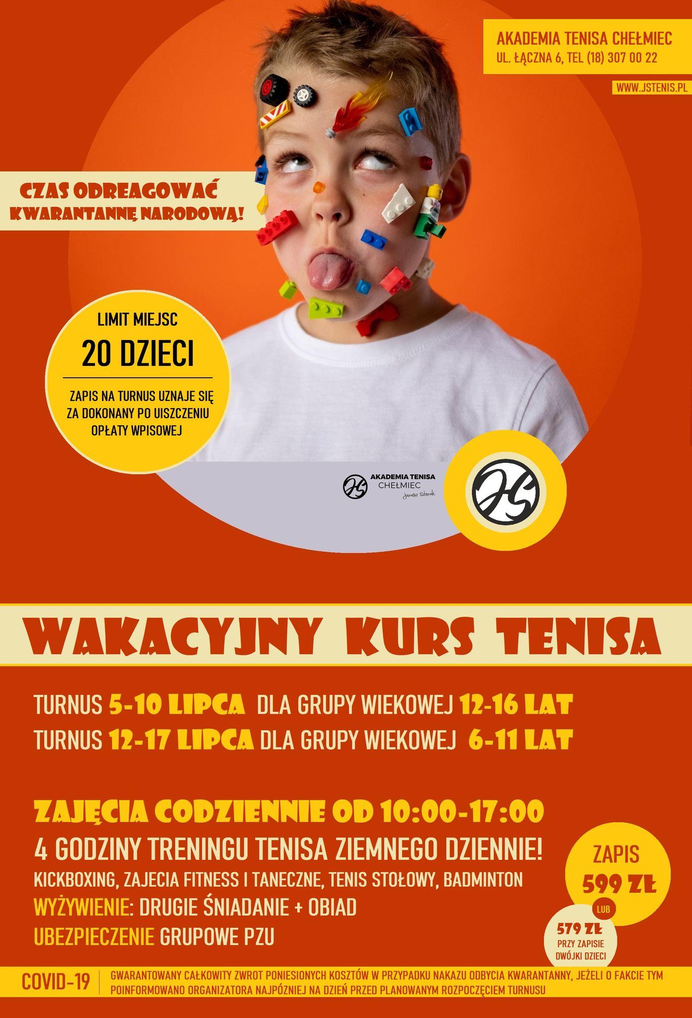 WAKACYJNY KURS TENISA, Akademia Tenisa Chełmiec - Janusz Stanek, tenis ziemny, korty tenisowe, tenis Nowy Sącz