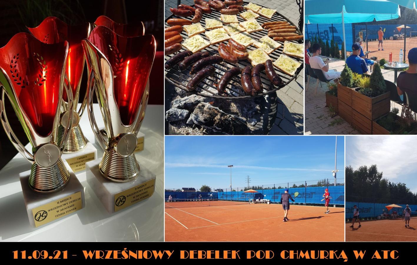 WRZEŚNIOWY DEBELEK POD CHMURKĄ W ATC, Akademia Tenisa Chełmiec - Janusz Stanek, tenis ziemny, korty tenisowe, tenis Nowy Sącz